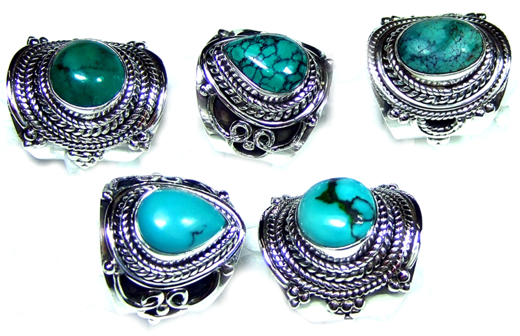 Exclusive Silver Turquoise Rings Collection-JVR018