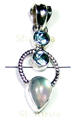 Sterling silver Rainbow Pendant-LCP007