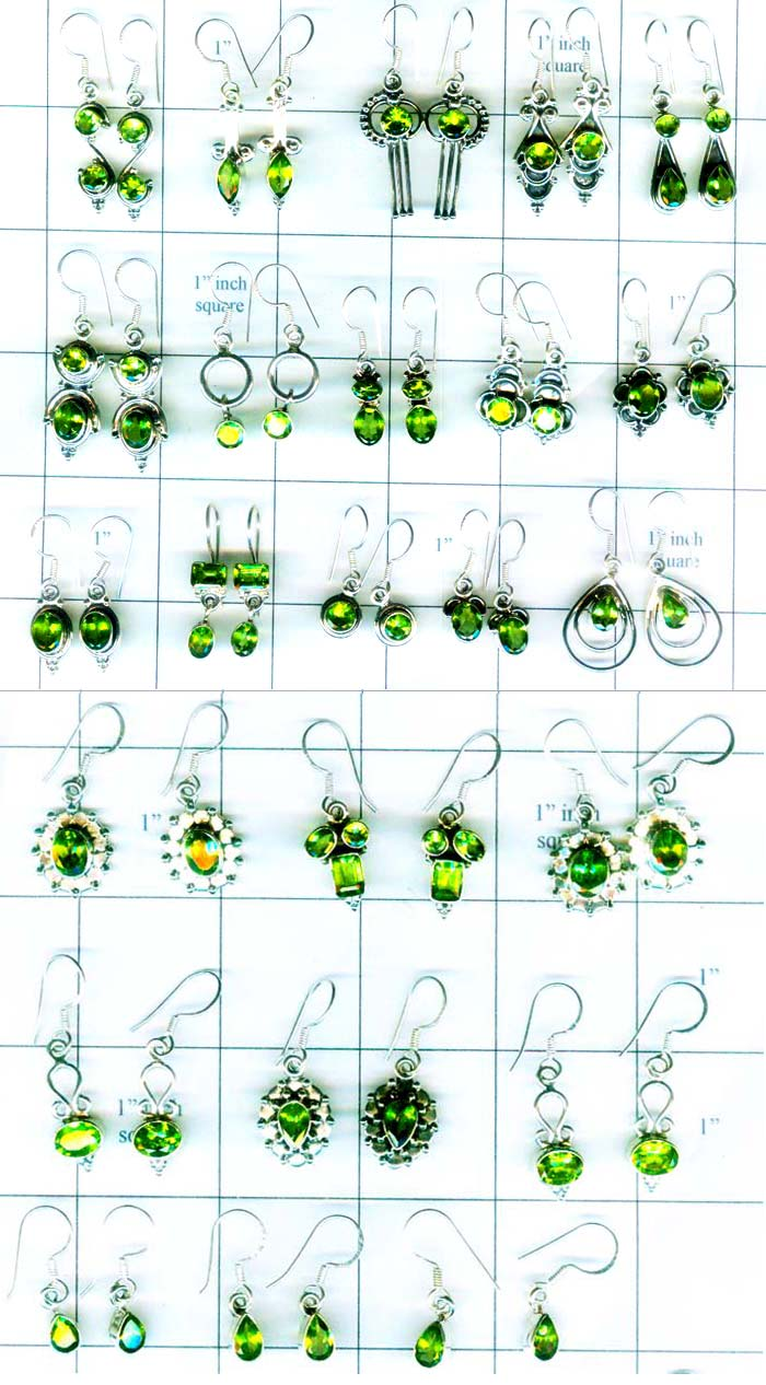 Unique collection of Peridot earrings-QWLE001