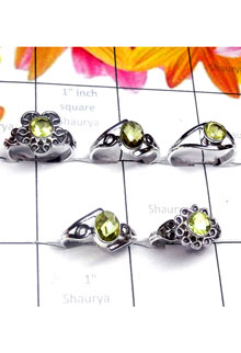 RBS984-Wholesale Lot 925 Sterling Silver Multi Design Small Size 5 Pcs Baby Rings