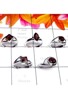 RBS987-Wholesale Lot  925 Sterling Silver Small Size Multi Design 5 Pcs Baby Rings