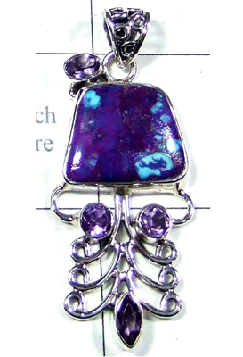 Fancy Purple Turquoise Pendant-S10P281