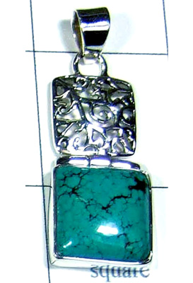 Natural Turquoise Gemstone Pendant-S10P282