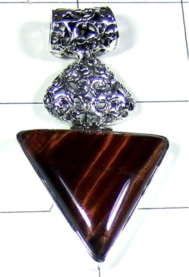 Iron Tiger Eye Gemstone Beautiful Pendant-S10P283