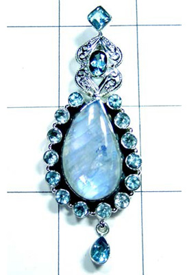 Rainbow Moonstone Exclusive Design Pendant-S10P288