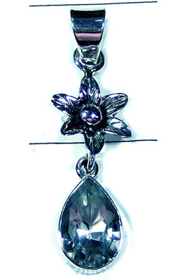 Exclusive Design Blue Topaz Pendant-S10P316