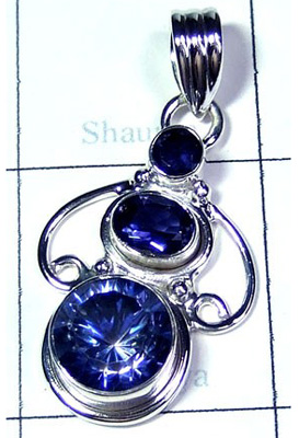 Royal Design Blue Mystic Pendant-S10P317