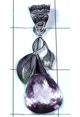 Unique Design Amethyst Gemstone Pendant-S10P319