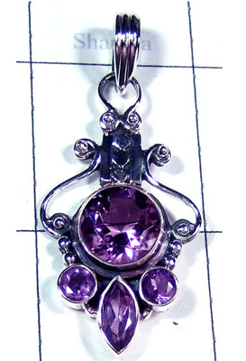 Faceted Amethyst Beautiful Pendant-S10P320