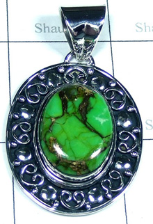 Green Copper Turquoise Beautiful Pendants-S10P410