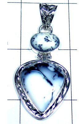 Lovely Dendritic Agate Gemstone Pendant-S10P413