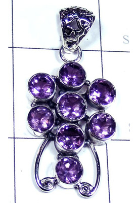 Beautiful Cut Amethyst Gemstone Pendant-S10P415