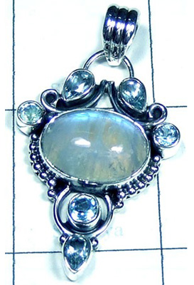 Rainbow Moonstone Beautiful Pendant-S10P426