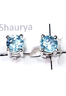 Studd Blue Topaz Earrings-S12E006