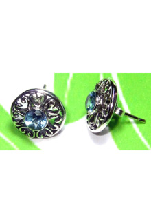 Exclusive Design Blue Topaz Earring-S12E007