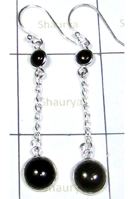 Black Onyx Gemstone Beautiful Earring-S12E024