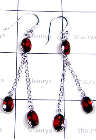 Beautiful Red Cz Bejel Earrings-S12E049