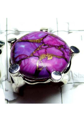 Beautiful Purple Copper Turquoise Ring-S12R018
