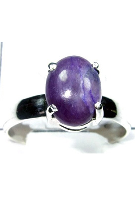 925 Sterling silver Purple Turquoise Ring-S12R032