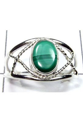 Trendy Malachite Gemstone Ring-S12R033