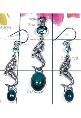 Sterling silver Sea collection silver Set-SEASET017