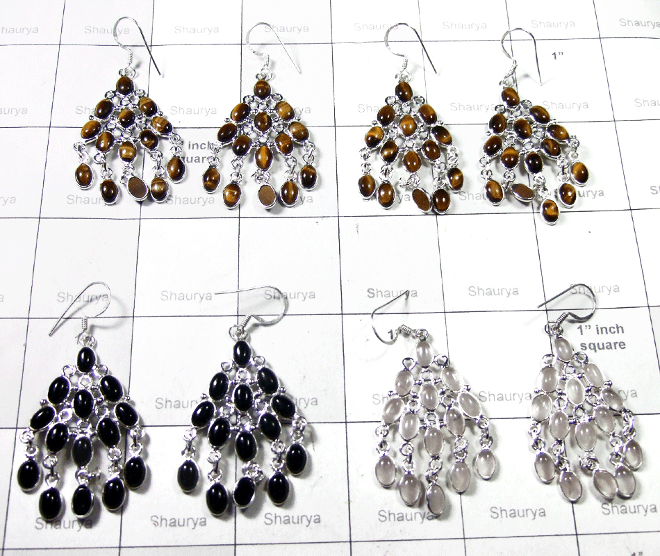 Cab Stone Bejal Earrings-SS6CE004