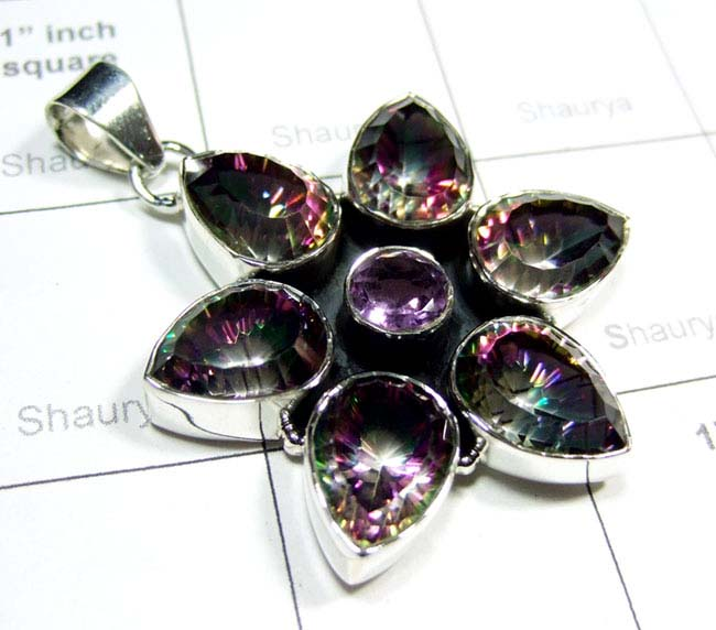 The  New Mystic Quartz, Amethyst Pendant-SS6DP013