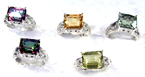 Cut Multi Stone Rings Lot-SS6R001