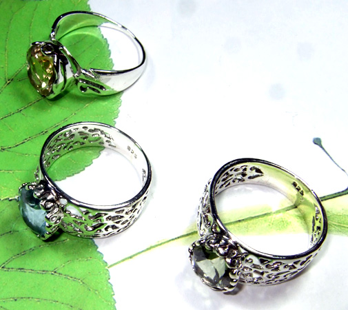 Multi Cut Stone Designer Rings-SS6R014