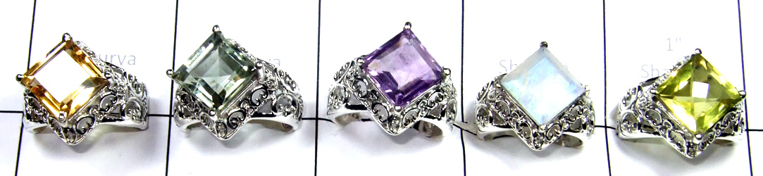 Cut Multi Stone Rings In New Design-SS6R015