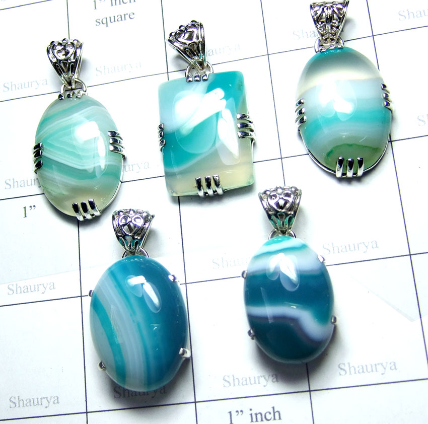 Bended Onyx Pendants-SS6YP008