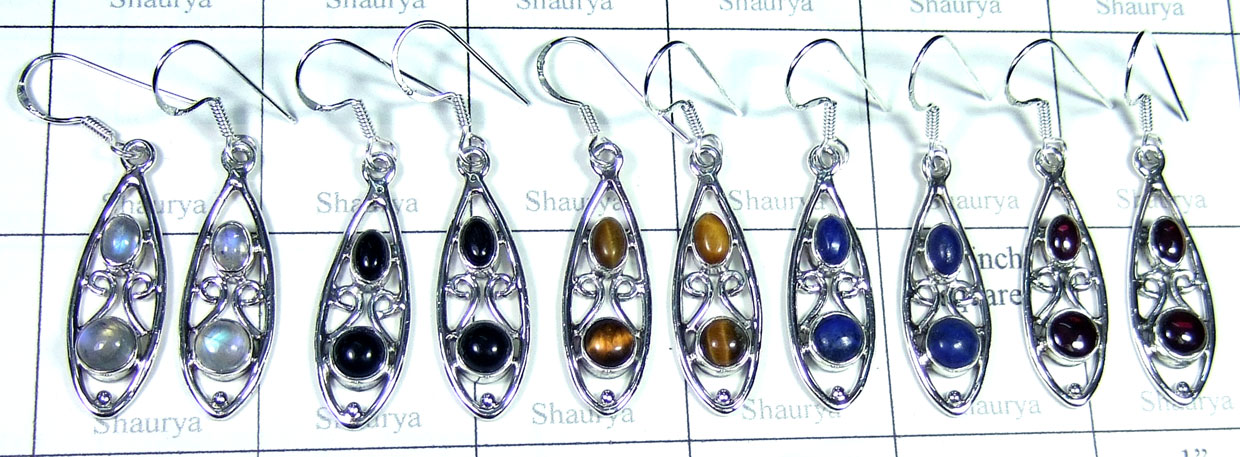 Sterling silver gems Earring-SYE002