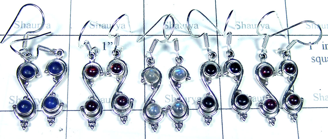 Sterling silver gems Earring-SYE005