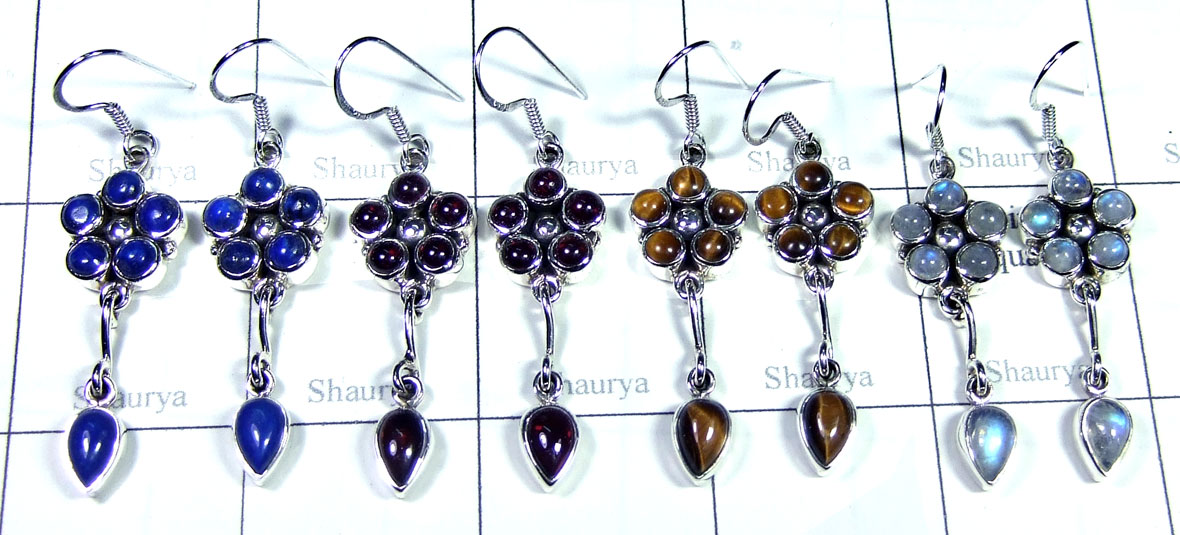 Sterling silver gems Earring-SYE010