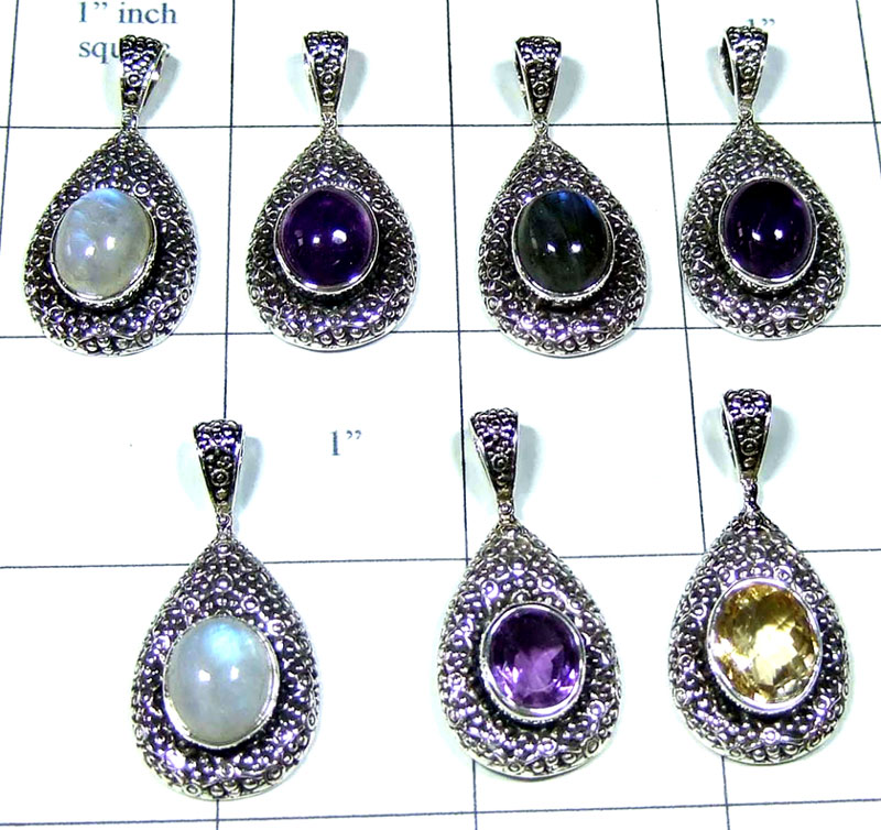 7 Pcs Sterling silver  Pendants - SYP049