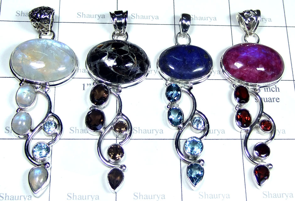 4 Pcs Wholesale silver  Pendants - SYP063