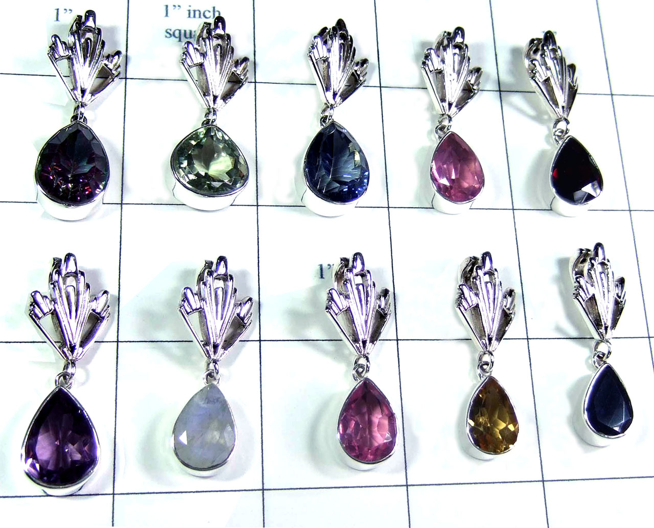 10 Pcs Light weight silver Pendants - SYP086