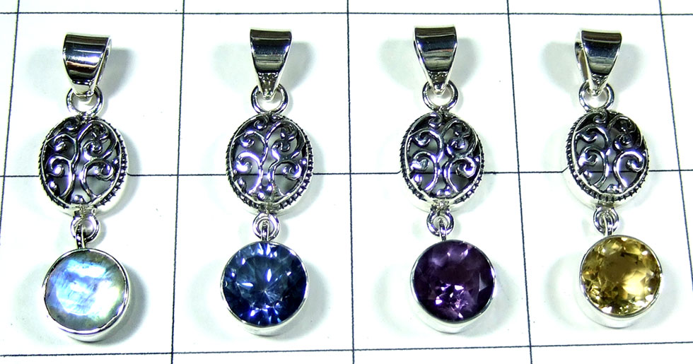 4 Pcs Sterling silver  Pendants - SYP094