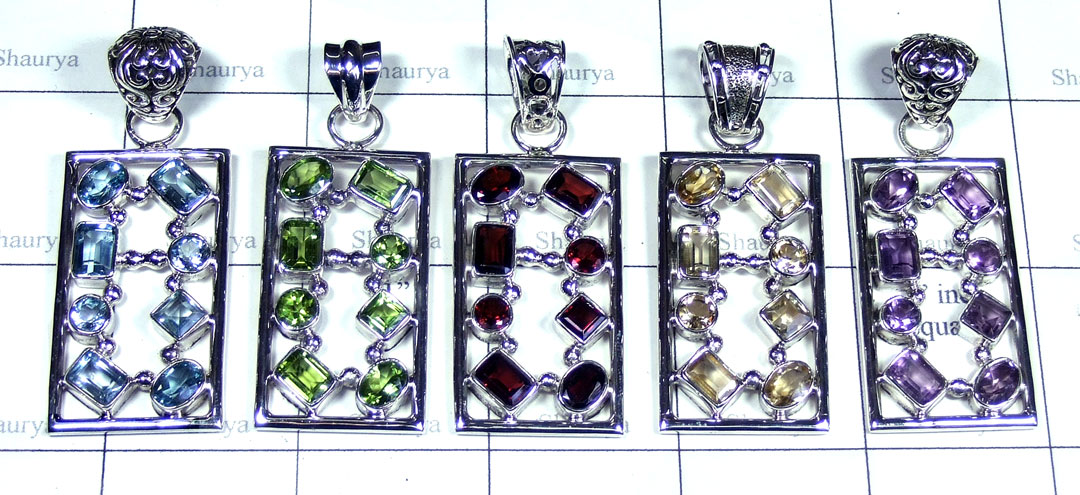 5 Pcs Beautiful gems Pendants - SYP109