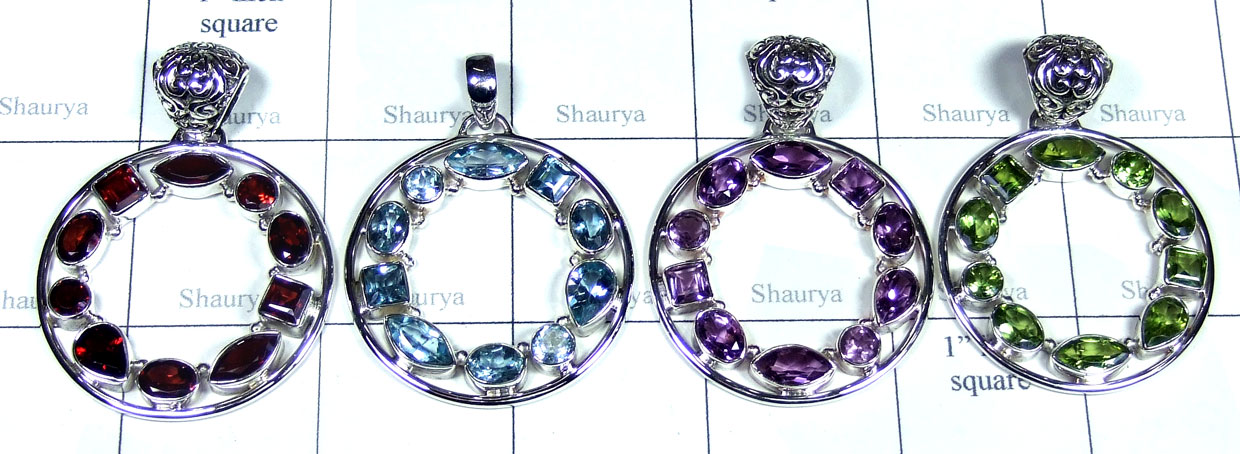 4 Pcs Sterling silver  Pendants - SYP117