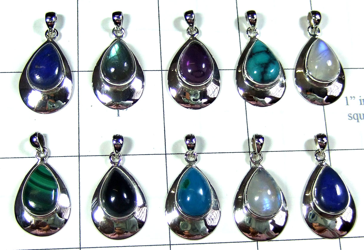 Wholesale silver gems Pendants-SYP150
