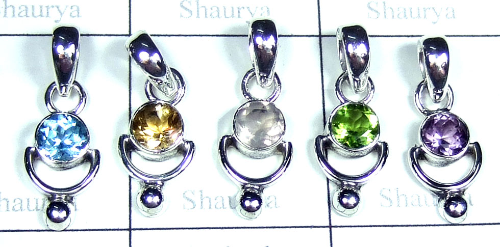 Small Cut gems Pendants-SYP163