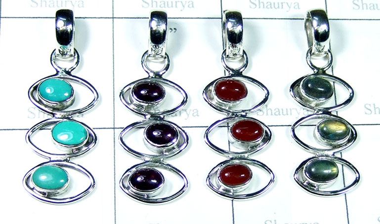 Color gemstone Pendants-SYP190