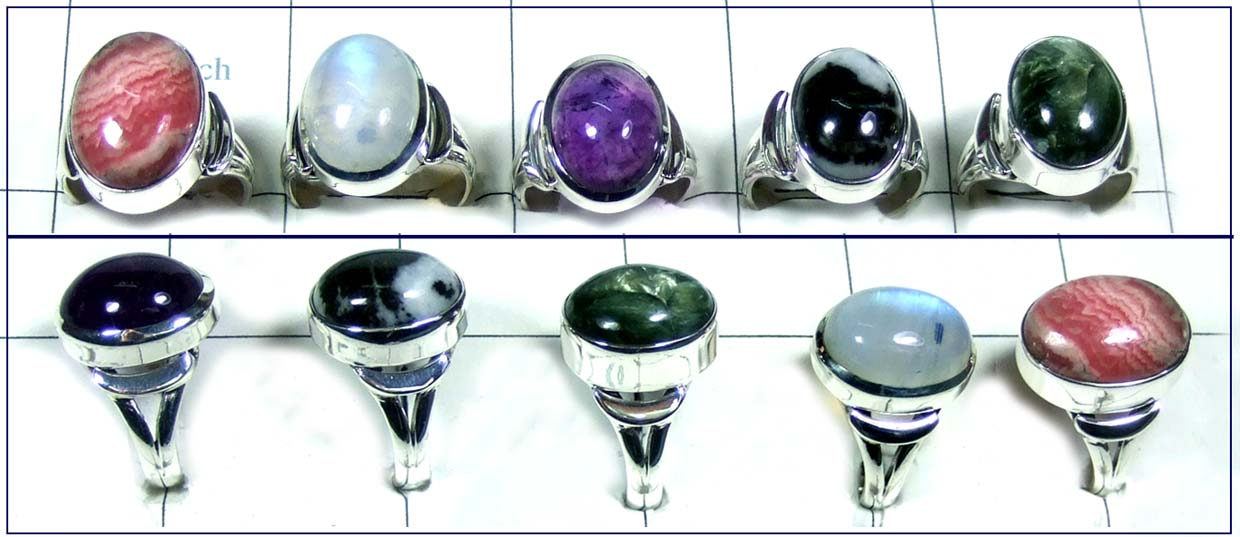 5 Pcs Beautiful silver Rings - SYR001