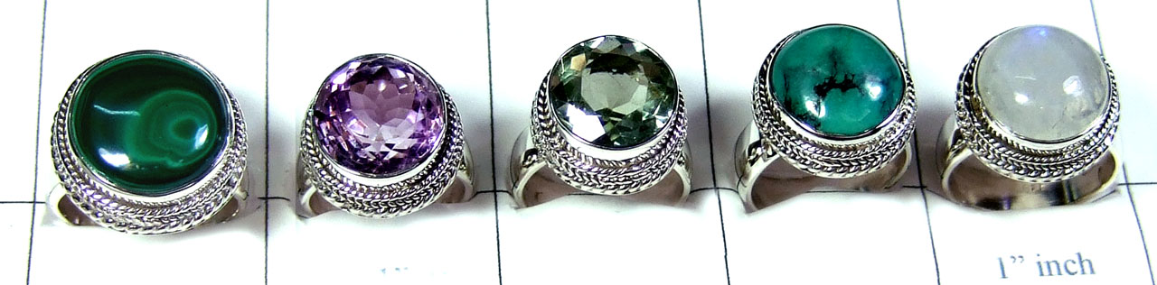 5 Pcs Sterling silver  Rings - SYR002