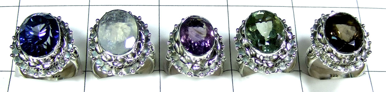 5 Pcs Beautiful gems Rings - SYR036