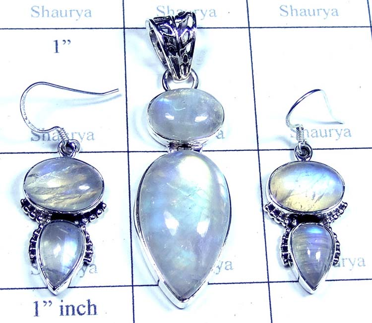 Wholesale silver gems Set-SYSET006