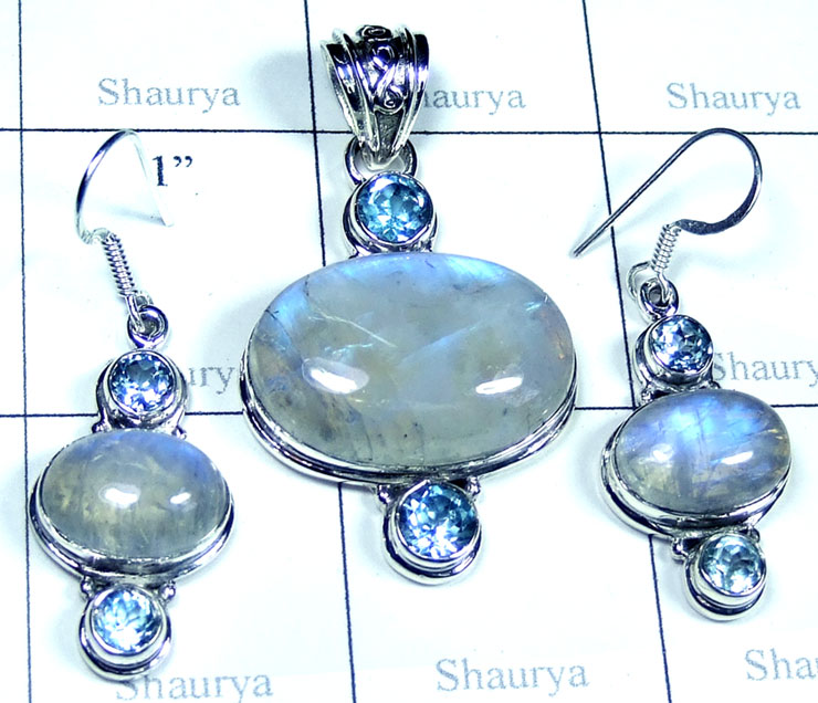 Wholesale silver gems Set-SYSET007