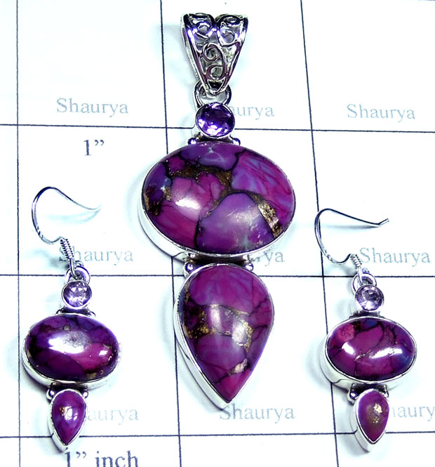 Purple copper Turquoise Set-SYSET010