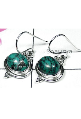 Natural gems Turquoise Earring-TQE001